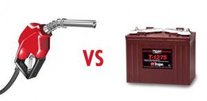 Gas vs Electric Logo