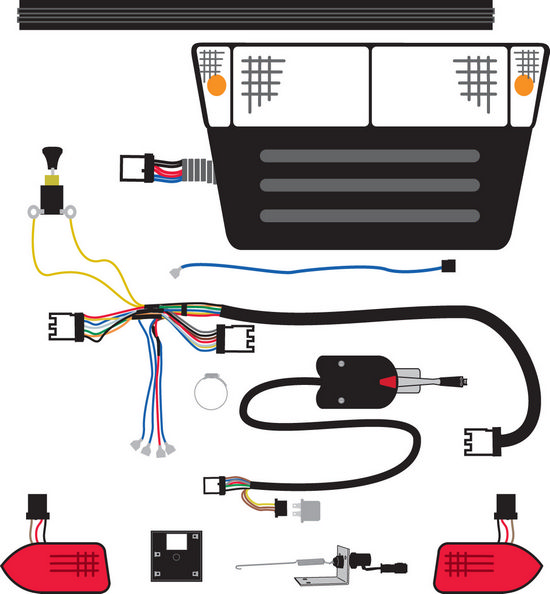 LightKit_1 accessories murray custom carts club car precedent light kit wiring diagram at n-0.co